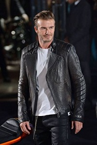 Mega Bazar David Beckham Cowhide leather jacket (XSmall): Amazon
