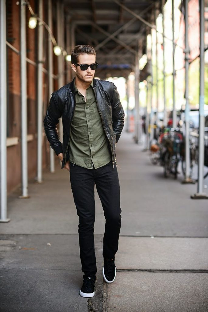 How To Wear A Black Leather Bomber Jacket 64 Looks Men39s Fashion With David Beckham Looks Good In Leather David Beckham Looks Good In Leather   Celebrity Gossip